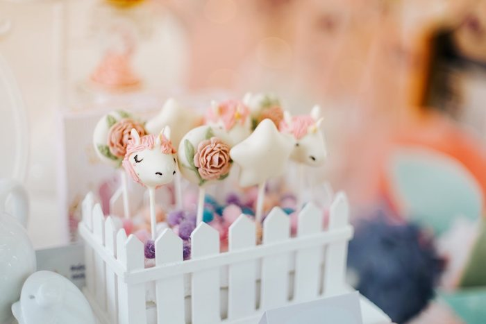 Unicorn-inspired Cake Pops from a Magical Unicorn Birthday Party on Kara's Party Ideas | KarasPartyIdeas.com (24)