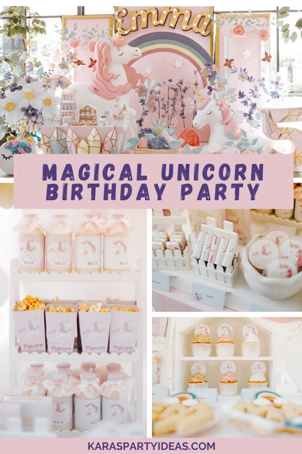 Magical Unicorn Birthday Party via Kara's Party Ideas - KarasPartyIdeas.com