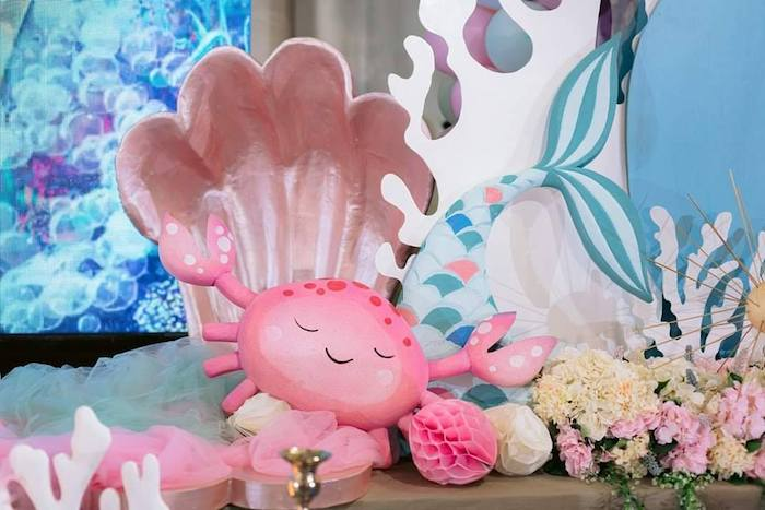 Under the Sea Octopus & Shell Prop from a Majestic Mermaid Under the Sea Party on Kara's Party Ideas | KarasPartyIdeas.com (20)
