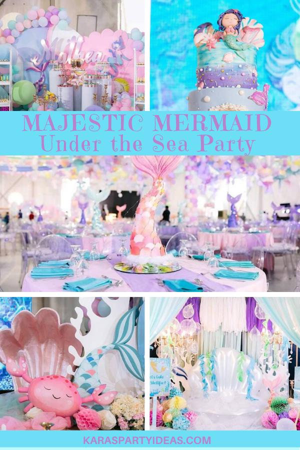 Majestic Mermaid Under the Sea Party via Kara's Party Ideas - KarasPartyIdeas.com