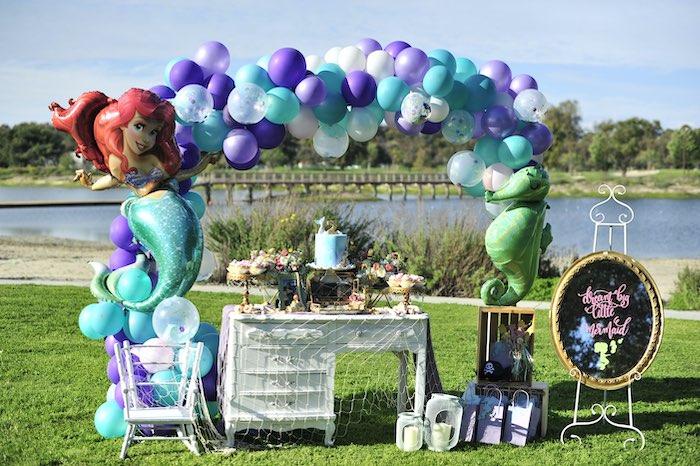 Mermaid Birthday Party on Kara's Party Ideas | KarasPartyIdeas.com (11)