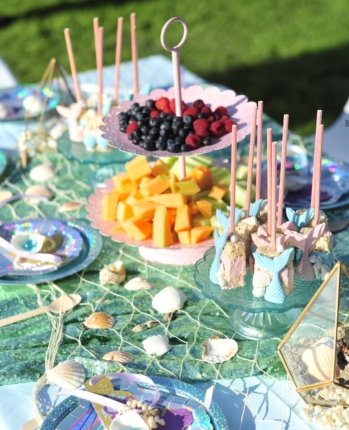 Mermaid Fin Rice Krispies from a Mermaid Birthday Party on Kara's Party Ideas | KarasPartyIdeas.com (8)