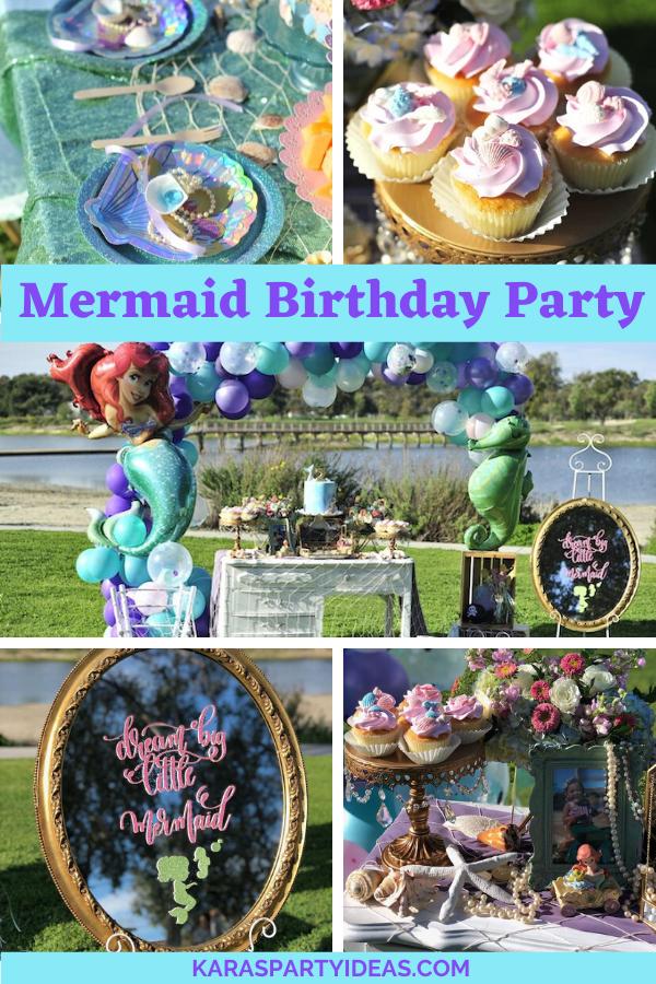 Mermaid Birthday Party via Kara's Party Ideas - KarasPartyIdeas.com