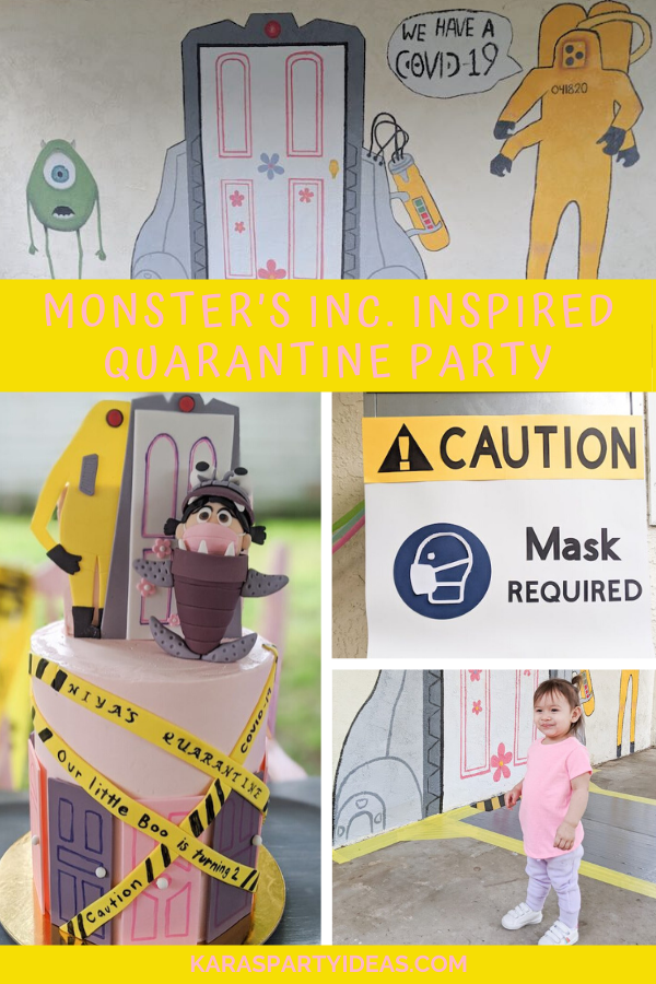 Monster's Inc. Inspired Quarantine Party via Kara's Party Ideas - KarasPartyIdeas.com