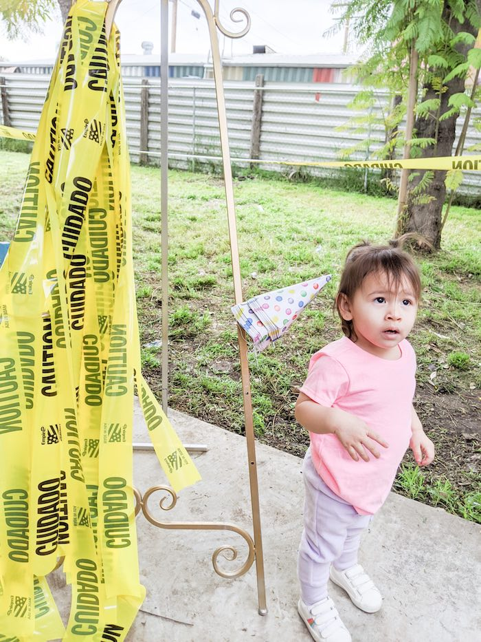 Caution Tape from a Monster's Inc. Inspired Quarantine Party on Kara's Party Ideas | KarasPartyIdeas.com (19)