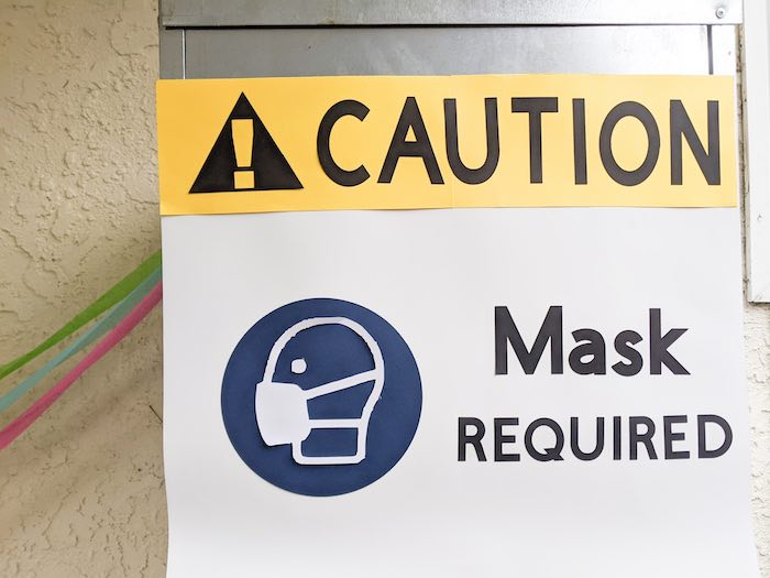 CAUTION Masks Required Sign from a Monster's Inc. Inspired Quarantine Party on Kara's Party Ideas | KarasPartyIdeas.com (24)