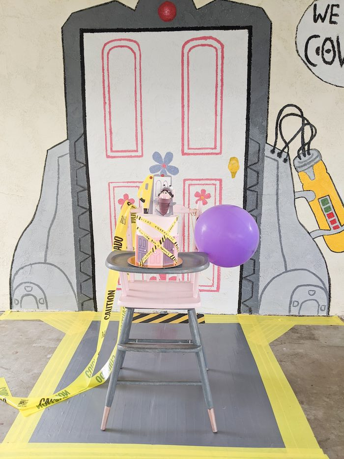 Monster's Inc. Cake from a Monster's Inc. Inspired Quarantine Party on Kara's Party Ideas | KarasPartyIdeas.com (23)