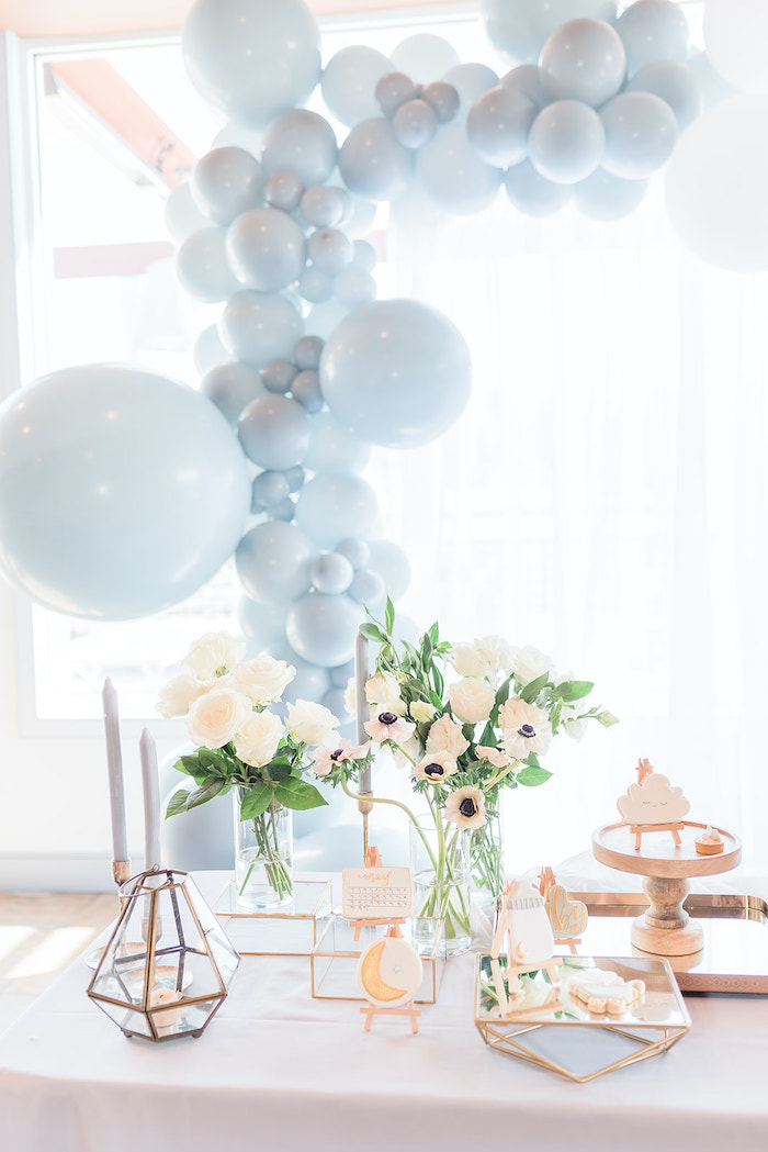 Moon-inspired Dessert Table from a Moon and Stars Baby Shower on Kara's Party Ideas | KarasPartyIdeas.com (29)