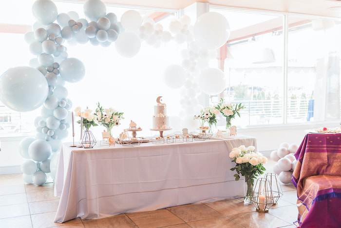 Moon Themed Dessert Table from a Moon and Stars Baby Shower on Kara's Party Ideas | KarasPartyIdeas.com (21)