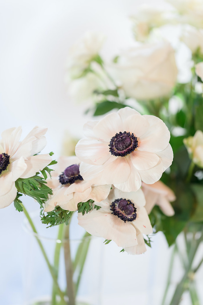 Anemone Blooms from a Moon and Stars Baby Shower on Kara's Party Ideas | KarasPartyIdeas.com (48)