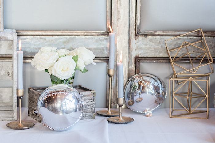 Rustic Chic Decor from a Moon and Stars Baby Shower on Kara's Party Ideas | KarasPartyIdeas.com (9)