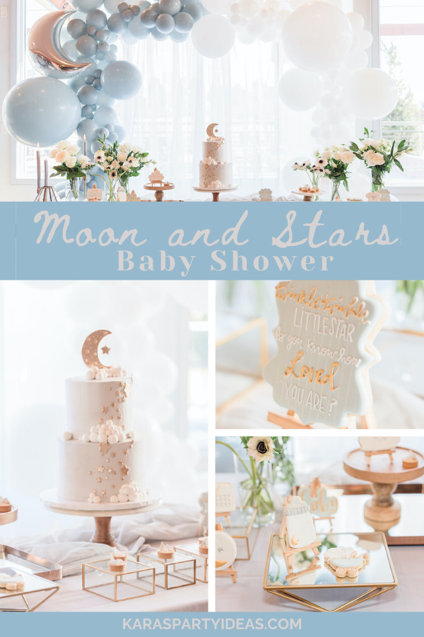 Moon and Stars Baby Shower via Kara's Party Ideas - KarasPartyIdeas.com
