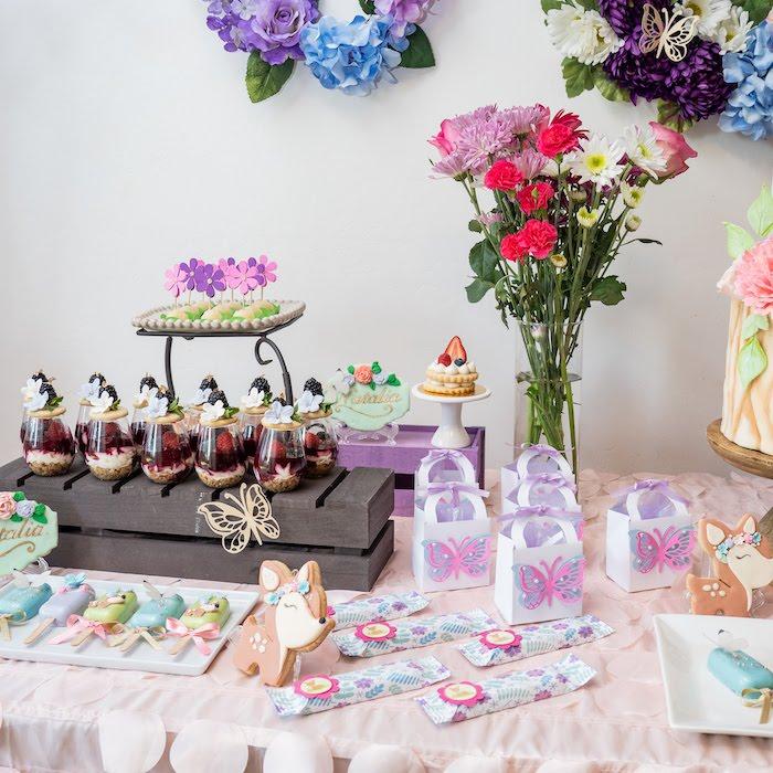 Garden-inspired Dessert Table Detail from a My Magical Garden Birthday Party on Kara's Party Ideas | KarasPartyIdeas.com (20)