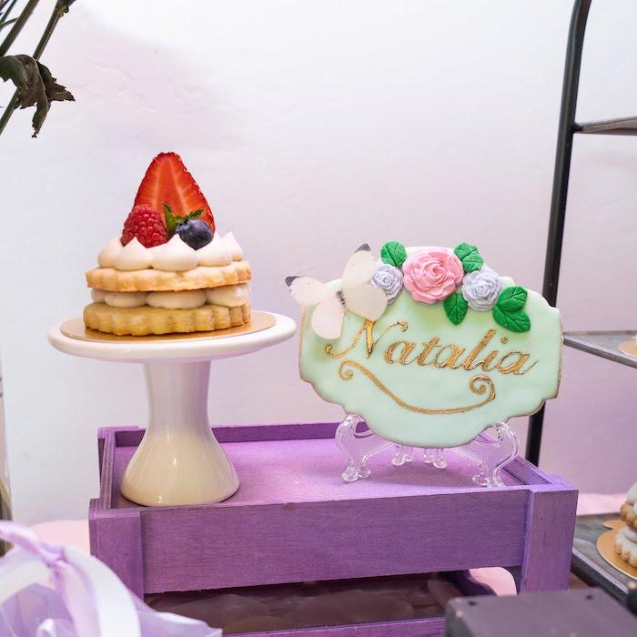 Garden-inspired Cookies from a My Magical Garden Birthday Party on Kara's Party Ideas | KarasPartyIdeas.com (17)