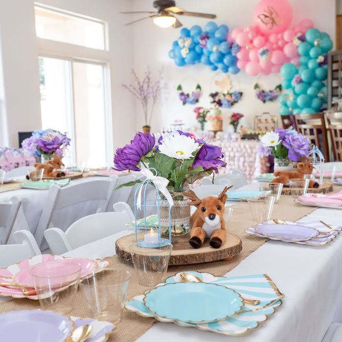 Guest Table from a My Magical Garden Birthday Party on Kara's Party Ideas | KarasPartyIdeas.com (15)