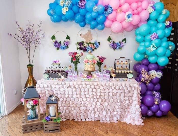 Garden-inspired Dessert Table from a My Magical Garden Birthday Party on Kara's Party Ideas | KarasPartyIdeas.com (33)