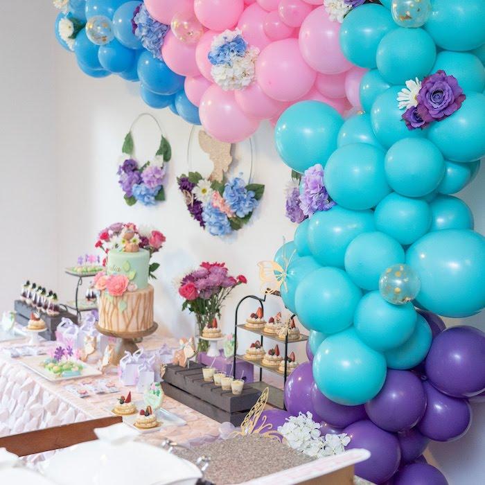 Garden-inspired Dessert Table from a My Magical Garden Birthday Party on Kara's Party Ideas | KarasPartyIdeas.com (5)