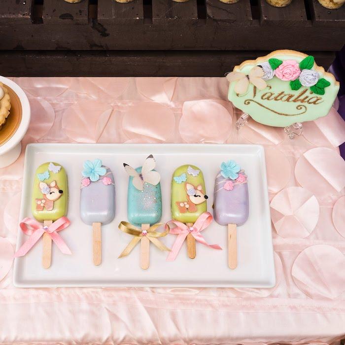 Garden Themed Cakesicles from a My Magical Garden Birthday Party on Kara's Party Ideas | KarasPartyIdeas.com (31)