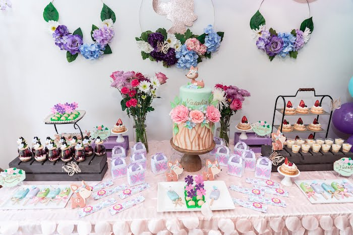 Garden-inspired Dessert Table from a My Magical Garden Birthday Party on Kara's Party Ideas | KarasPartyIdeas.com (26)