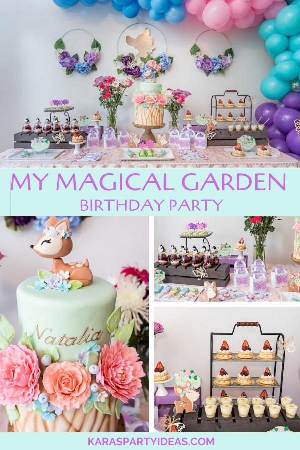 My Magical Garden Birthday Party via Kara's Party Ideas - KarasPartyIdeas.com