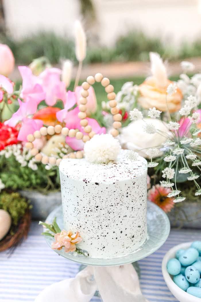 Bunny Cake from an Outdoor Easter Picnic on Kara's Party Ideas | KarasPartyIdeas.com (17)