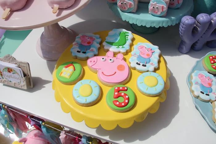 Peppa Pig-inspired Cookies from a Peppa Pig Birthday Party on Kara's Party Ideas | KarasPartyIdeas.com (4)