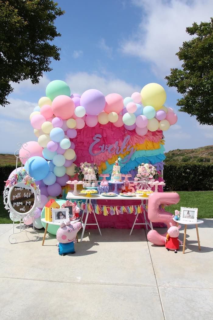Peppa Pig Themed Dessert Table from a Peppa Pig Birthday Party on Kara's Party Ideas | KarasPartyIdeas.com (15)