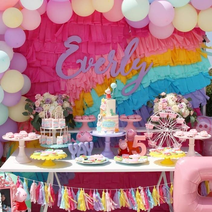 Peppa Pig Themed Dessert Table from a Peppa Pig Birthday Party on Kara's Party Ideas | KarasPartyIdeas.com (12)