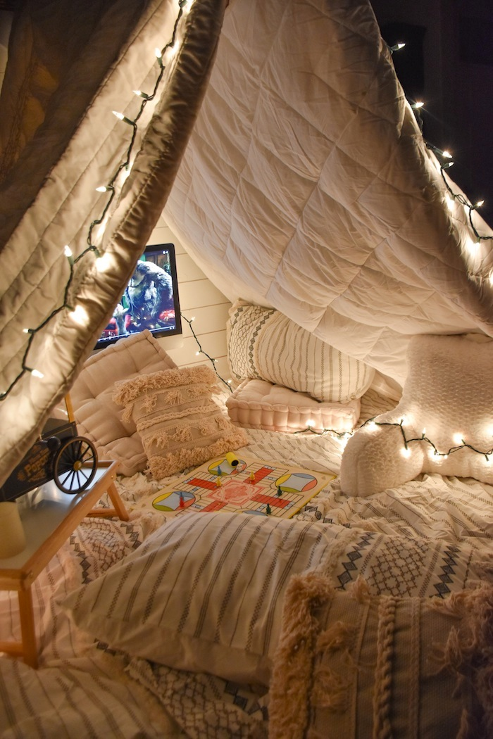 Quarantine Ideas Bed Bath Beyond Family Game Movie Night Fort Tent- Kara's Party Ideas