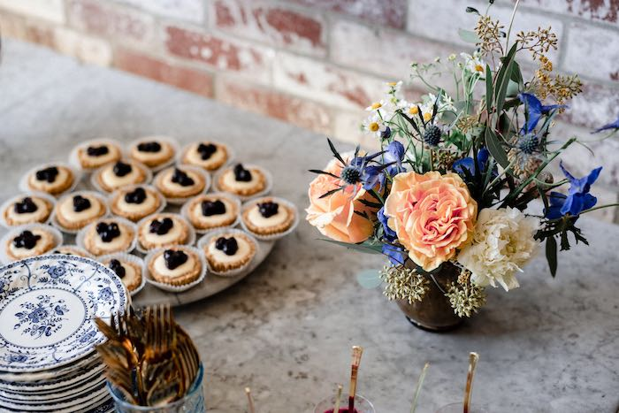 Florals from a Rustic Vintage Blueberry Baby Shower on Kara's Party Ideas | KarasPartyIdeas.com (20)