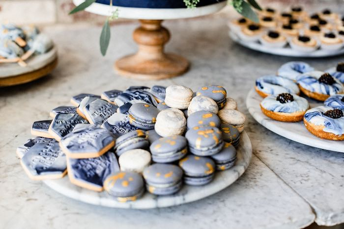 Cookies & Macarons from a Rustic Vintage Blueberry Baby Shower on Kara's Party Ideas | KarasPartyIdeas.com (24)