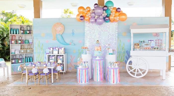 Salty Air + Mermaid Vibes Birthday Party on Kara's Party Ideas | KarasPartyIdeas.com (25)