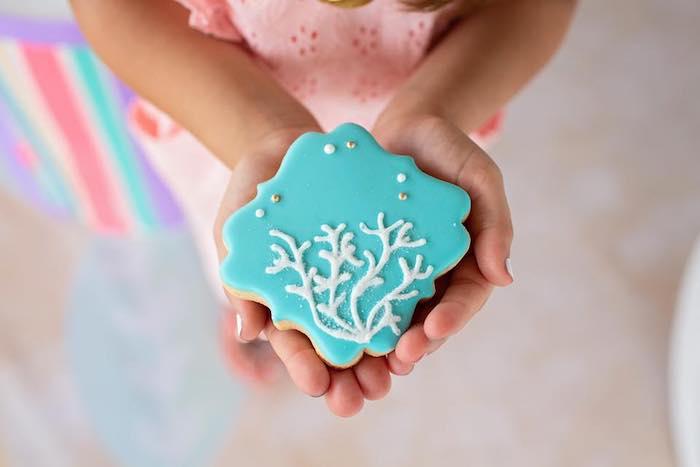 Sea-inspired Sugar Cookies from a Salty Air + Mermaid Vibes Birthday Party on Kara's Party Ideas | KarasPartyIdeas.com (24)