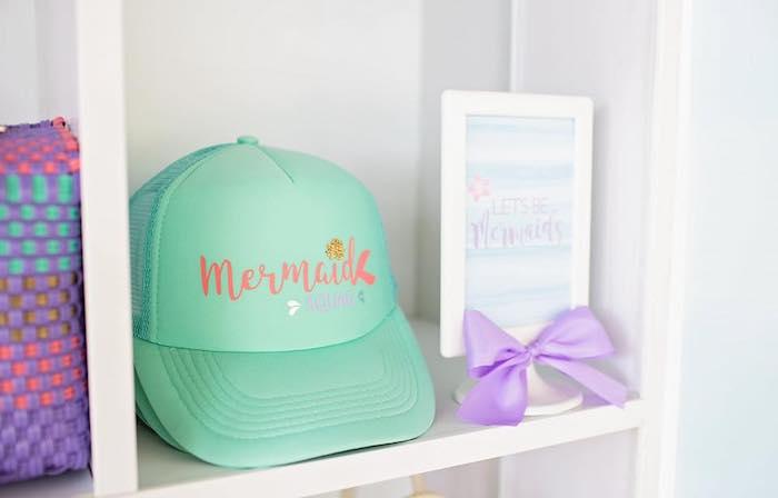 Custom Hat Favors from a Salty Air + Mermaid Vibes Birthday Party on Kara's Party Ideas | KarasPartyIdeas.com (21)
