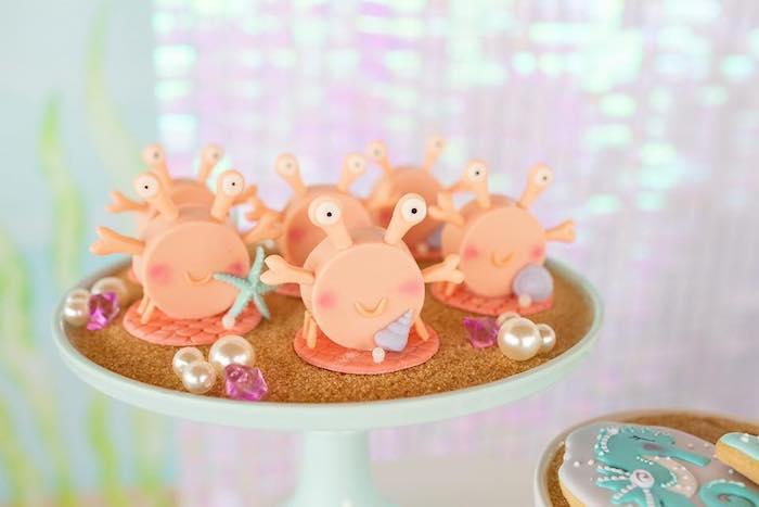 Crab Oreos from a Salty Air + Mermaid Vibes Birthday Party on Kara's Party Ideas | KarasPartyIdeas.com (10)