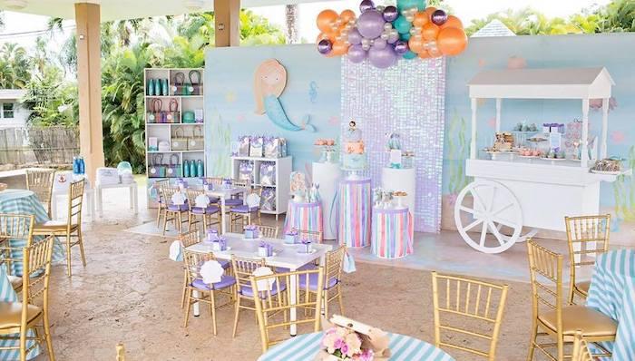 Salty Air + Mermaid Vibes Birthday Party on Kara's Party Ideas | KarasPartyIdeas.com (7)