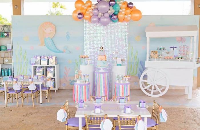 Salty Air + Mermaid Vibes Birthday Party on Kara's Party Ideas | KarasPartyIdeas.com (3)