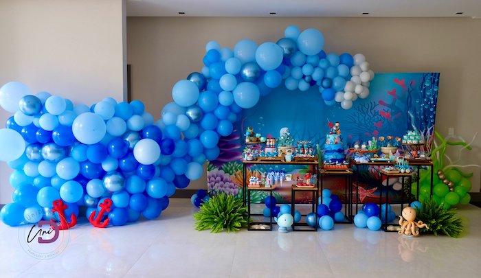 Shark Under the Sea Birthday Party on Kara's Party Ideas | KarasPartyIdeas.com (20)