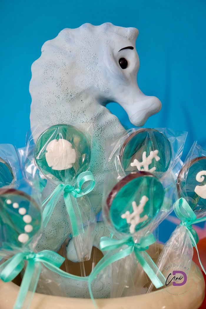Under the Sea Lollypops from a Shark Under the Sea Birthday Party on Kara's Party Ideas | KarasPartyIdeas.com (8)