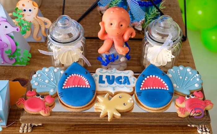 Under the Sea Cookies & Treats from a Shark Under the Sea Birthday Party on Kara's Party Ideas | KarasPartyIdeas.com (36)