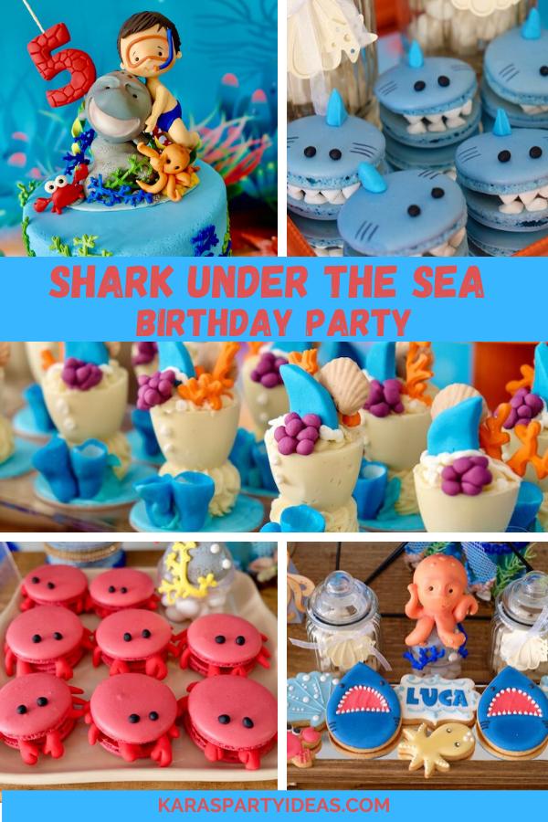 Shark Under the Sea Birthday Party via Kara's Party Ideas - KarasPartyIdeas.com