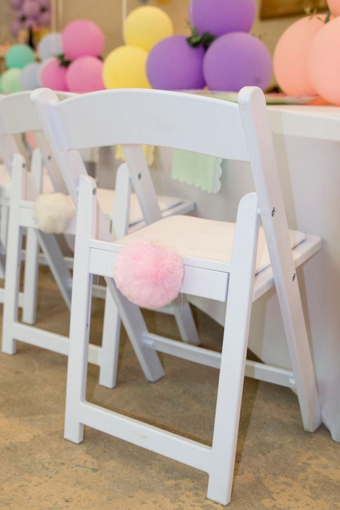 Bunny Bum Chair from a Some Bunny is One Birthday Party on Kara's Party Ideas | KarasPartyIdeas.com (9)