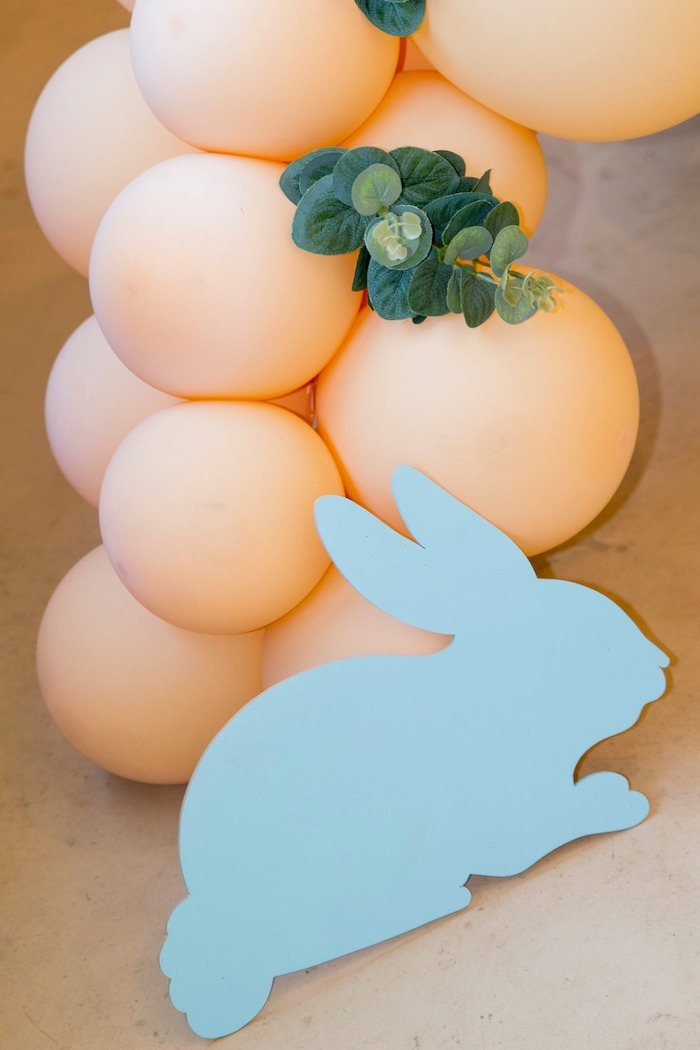 Bunny Silhouette Prop from a Some Bunny is One Birthday Party on Kara's Party Ideas | KarasPartyIdeas.com (41)
