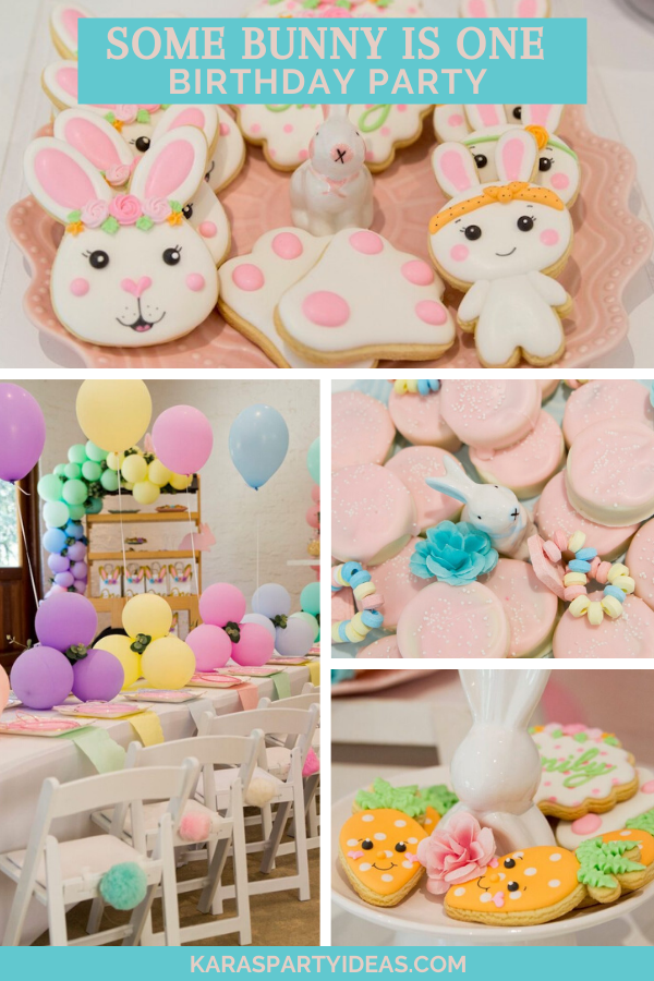 Some Bunny is One Birthday Party via Kara's Party Ideas - KarasPartyIdeas.com