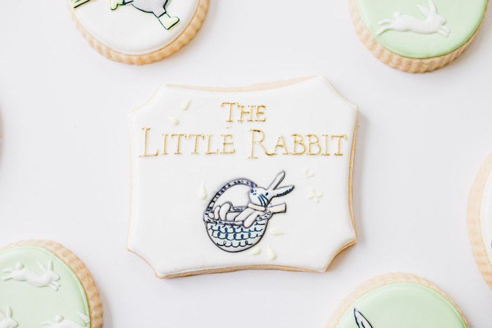 The Little Rabbit Cookie from The Little Rabbit Inspired Spring Play Date Party on Kara's Party Ideas | KarasPartyIdeas.com (44)