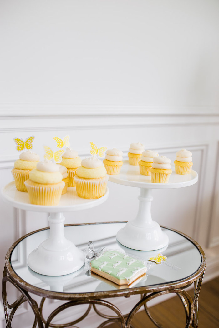 Yellow Butterfly Cupcakes from The Little Rabbit Inspired Spring Play Date Party on Kara's Party Ideas | KarasPartyIdeas.com (40)