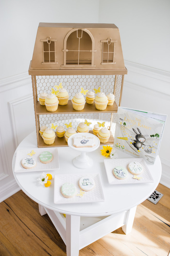 Little Rabbit Themed Dessert Table from The Little Rabbit Inspired Spring Play Date Party on Kara's Party Ideas | KarasPartyIdeas.com (39)