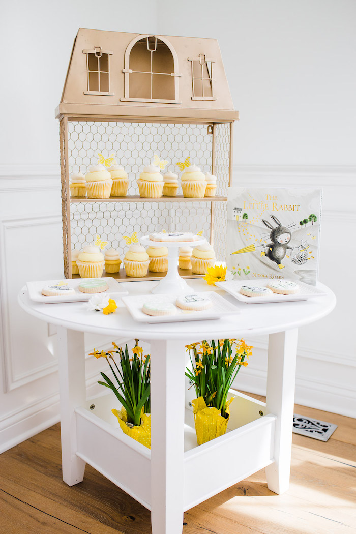 Little Rabbit Themed Dessert Table from The Little Rabbit Inspired Spring Play Date Party on Kara's Party Ideas | KarasPartyIdeas.com (38)