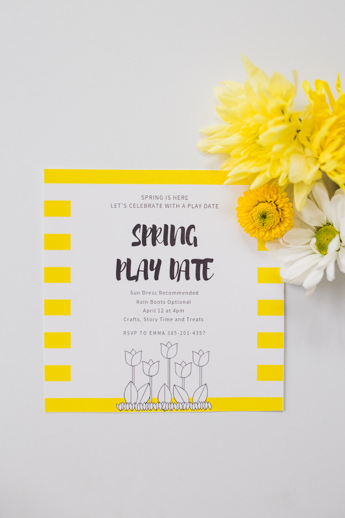 Spring Play Date Party Invite from The Little Rabbit Inspired Spring Play Date Party on Kara's Party Ideas | KarasPartyIdeas.com (34)