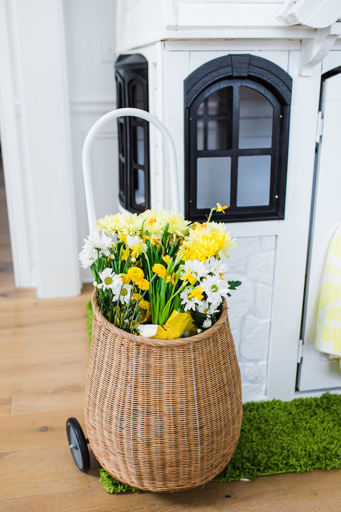 Flower Basket from The Little Rabbit Inspired Spring Play Date Party on Kara's Party Ideas | KarasPartyIdeas.com (32)
